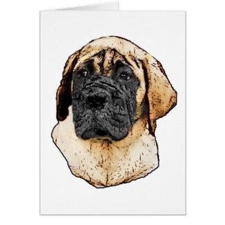 Cartes Cadeaux anglais d'art de mastiff