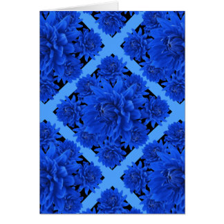 Cartes Cadeaux bleus de motif de dahlias de saphir