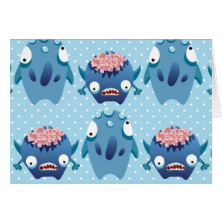 Cartes Cadeaux bleus fous de créatures d'amusement de
