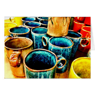 Cartes Cadeaux colorés de tasses de café pour des amants