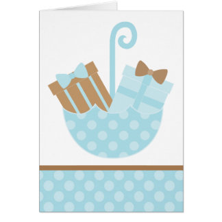 Cartes Cadeaux de bébé bleu dans le parapluie