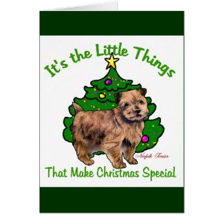 Cartes Cadeaux de Noël de Norfolk Terrier