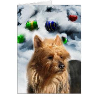 Cartes Cadeaux de Noël de Terrier australien