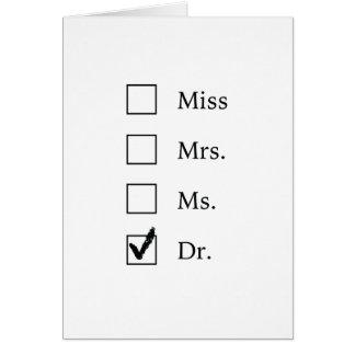 Cartes Cadeaux de PhD pour des femmes