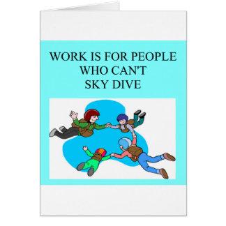 Cartes cadeaux de plongeur de ciel
