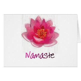 """Cartes Cadeaux de yoga de """"Namaste"""" de fleur de Lotus"""