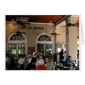 Cartes Cafe du Monde en plein rendement