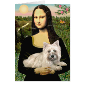 Cartes Cairn Terrier 4 - Mona Lisa