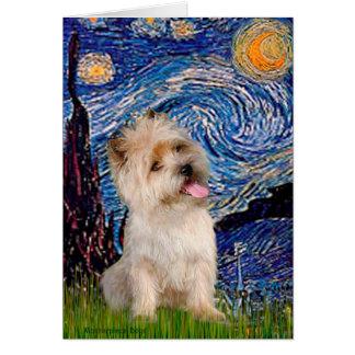 Cartes Cairn Terrier 9 - nuit étoilée