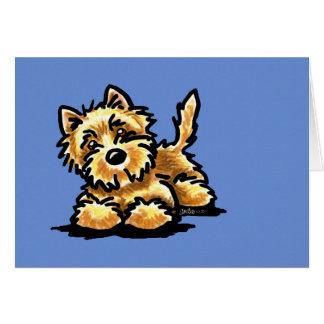Cartes Cairn Terrier blond comme les blés