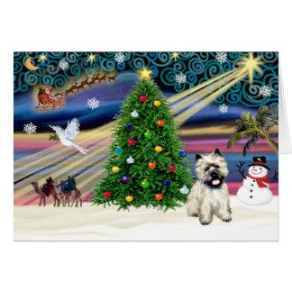 Cartes Cairn Terrier magique 5 de Noël
