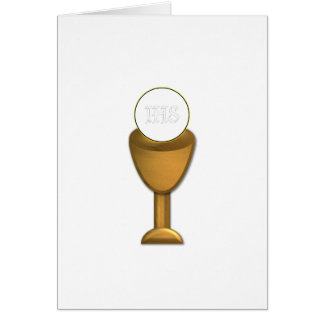 Cartes Calice et centre serveur d'or - sainte communion