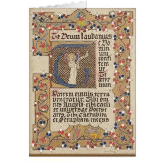 Cartes Calligraphie lumineuse par style médiéval latin