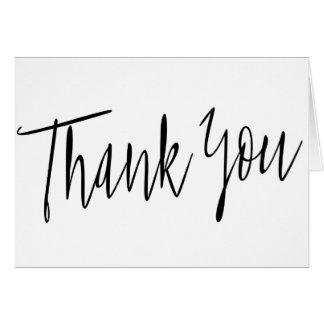 """Cartes Calligraphie simple """"Merci """""""
