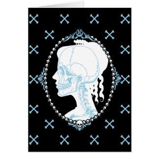 Cartes Camée assez bleue de crâne