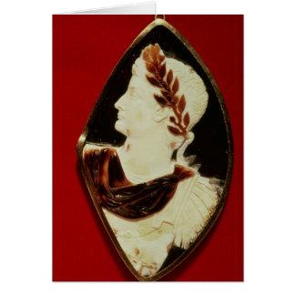 Cartes Camée de Sardonyx soutenant le profil de Tiberius