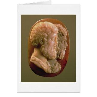 Cartes Camée dépeignant Marcus Aurelius (121-180) et Luci