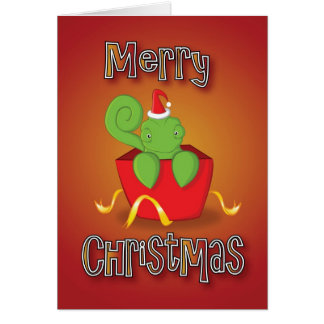 Cartes caméléon - boîte - Joyeux Noël