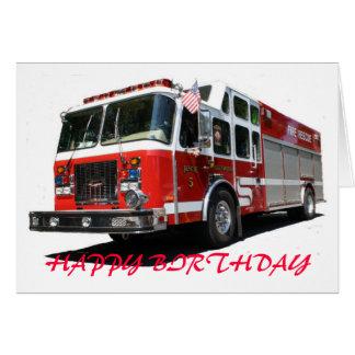 Cartes Camion de pompiers de JOYEUX ANNIVERSAIRE