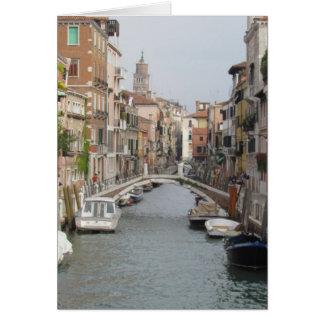 Cartes Canal à Venise, Italie