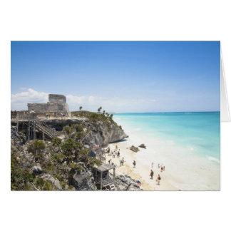 Cartes Cancun, Quintana Roo, Mexique - ruines sur une