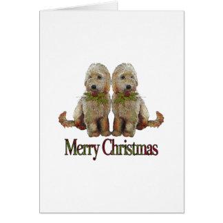 Cartes Caniche, Noël d'or de couples de griffonnage : Art