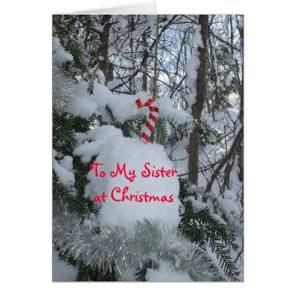 Cartes Canne de Noël-Sucrerie de soeur