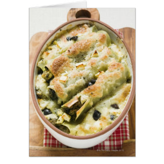 Cartes Cannelloni avec le remplissage de fromage