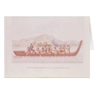 Cartes Canoë de pirogue piloté par des indigènes de la