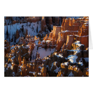 Cartes Canyon de Bryce, Utah en hiver