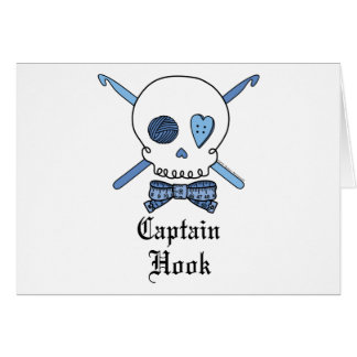 Cartes Capitaine Hook Skull et crochets de crochet
