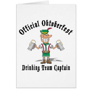 Cartes Capitaine potable Gift d'équipe d'Oktoberfest