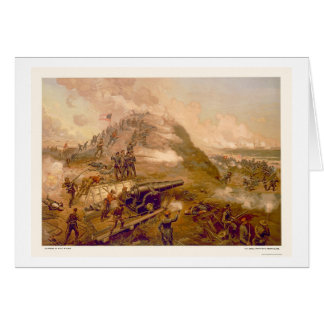Cartes Capture de fort Fisher par L. Prang & Company 1887