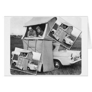 Cartes Caravane vintage de camping de voiture