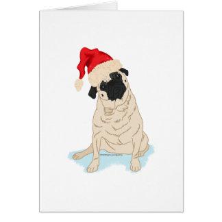 Cartes Carlin de Noël de casquette de Père Noël