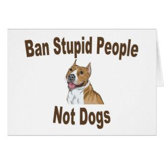 Cartes Carnet stupide de personnes d'interdiction