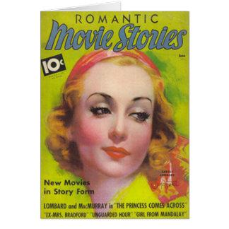 Cartes Carole Lombard sur la couverture des histoires