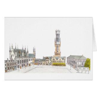 Cartes Carré de Burg. Bruges Belgique