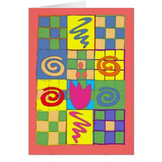 Cartes Carrés abstraits sur l'édredon
