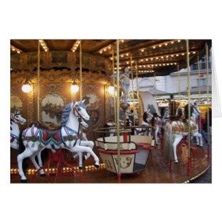 Cartes Carrousel vintage de champ de foire