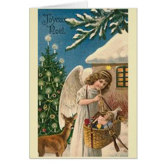 """Cartes """"Carte de Noël vintage de Joyeux Noel """""""