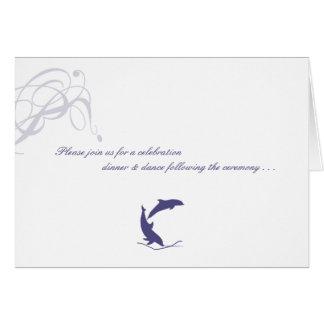 Cartes Carte- de réponse de mariage de dauphin