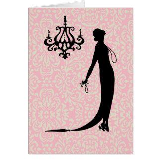 Cartes Carte/invitations de ~ de plat de mode de Moi