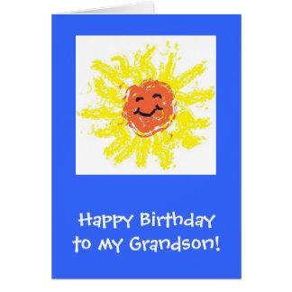 Cartes Carte/petit-fils joyeux anniversaire