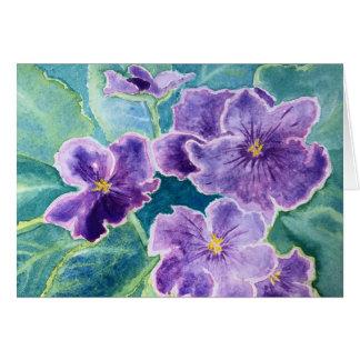 """Cartes 'Cartes de note de violettes"""""""
