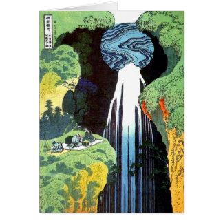 Cartes Cascade d'Amida, beaux-arts de Japonais de Hokusai
