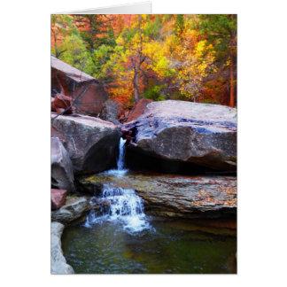 Cartes Cascade d'automne, le souterrain Zion NP,
