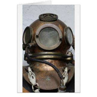 Cartes Casque sous-marin de plongée en métal vintage