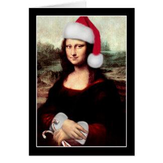 Cartes Casquette de Père Noël de Noël de Mona Lisa
