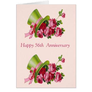 Cartes Casquette supérieur et fleurs, cinquante-sixième